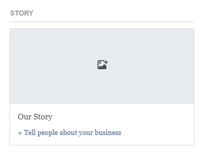 Share how your business got started with a new feature called Story.
