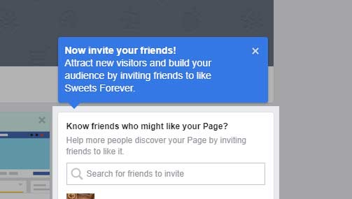 Invite your friends to like your page.
