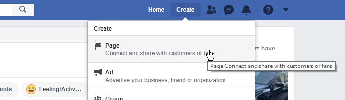 You can access your personal account and create a page from there.