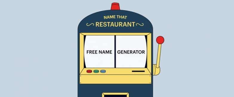 A slot machine is made up to be a business name generator.