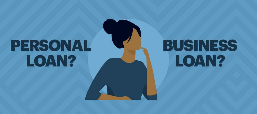 A woman wonders whether to use a personal loan for a business.