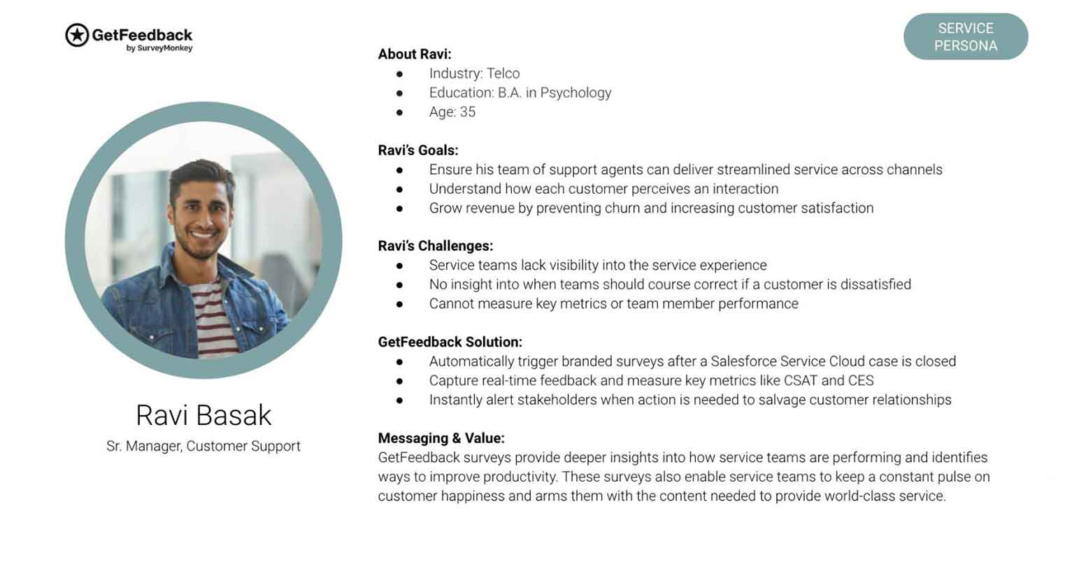 This business-to-business customer profile example is from GetFeedback by Survey Monkey.
