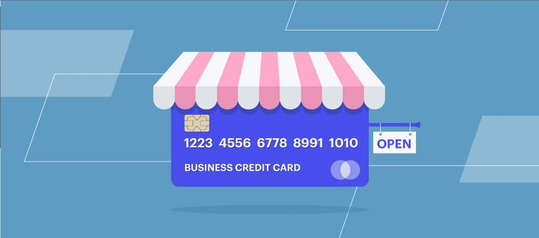 Business credit card as a shop front