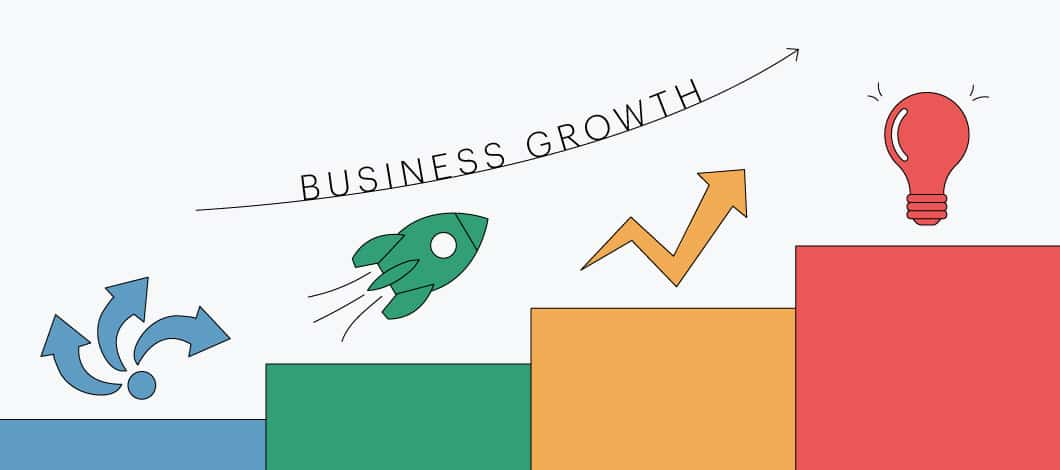Business growth chart going up
