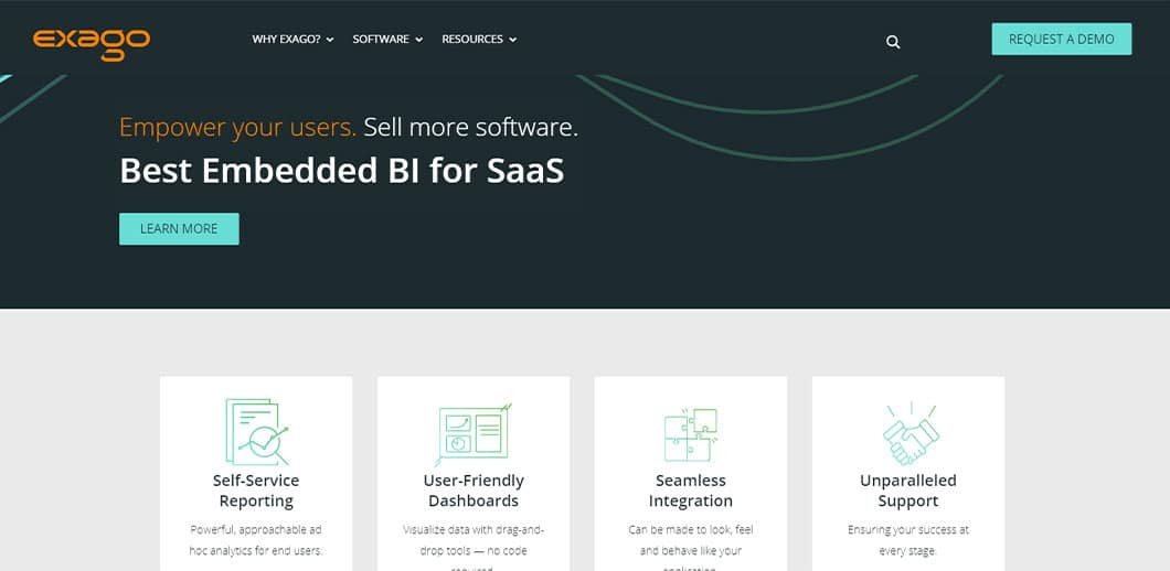Exago BI's open application programming interface and customizable user interface makes it appealing to those who like having control over their business intelligence software tools.