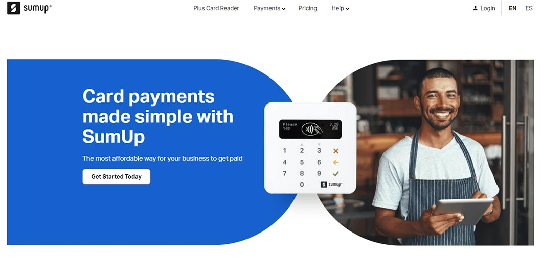 SumUp allows users to make in-person payments like the other products we mentioned.