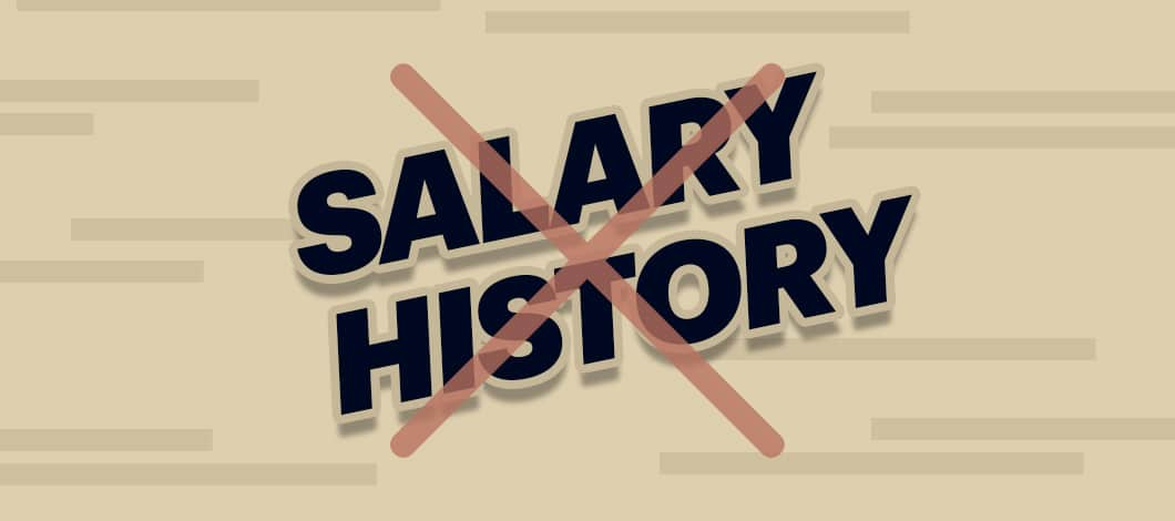 "The words ""Salary History"" are crossed out."