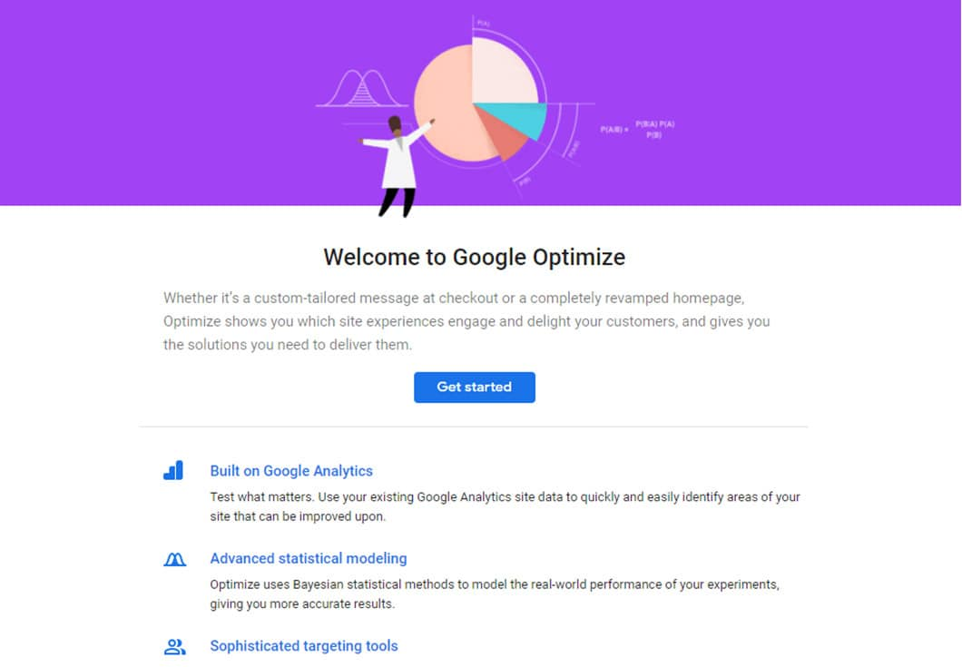 You can use Google Optimize to test pages.