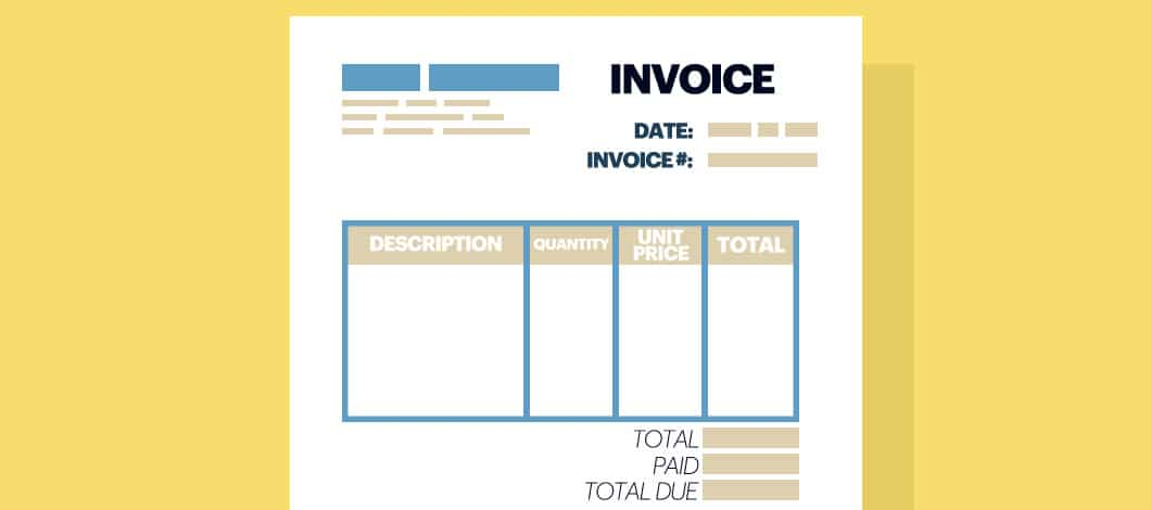 "A document labeled ""Invoice."""