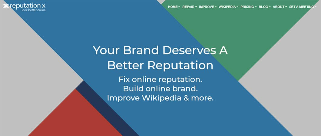 Reputation X promises to help you fix your online reputation and build an online brand.