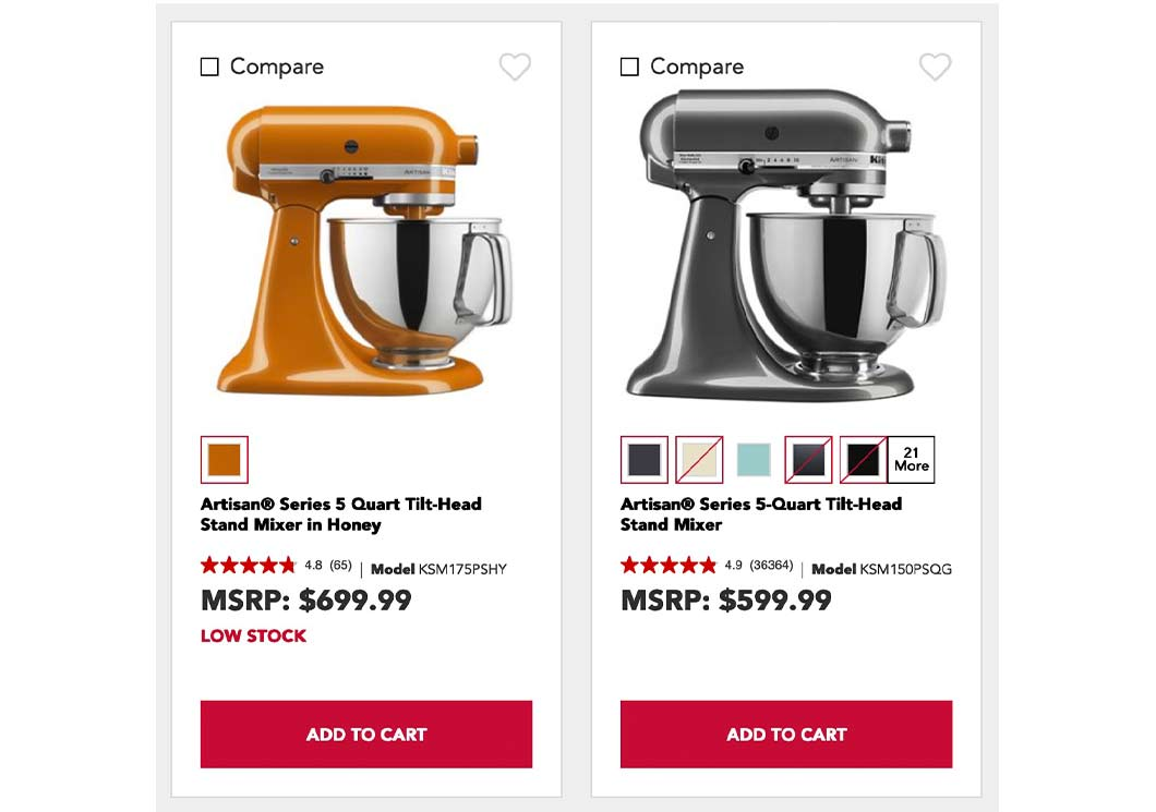 """The mixer KitchenAid names the """"Color of the Year"""" sells for $100 more than the others, based only on the limited-edition color."""